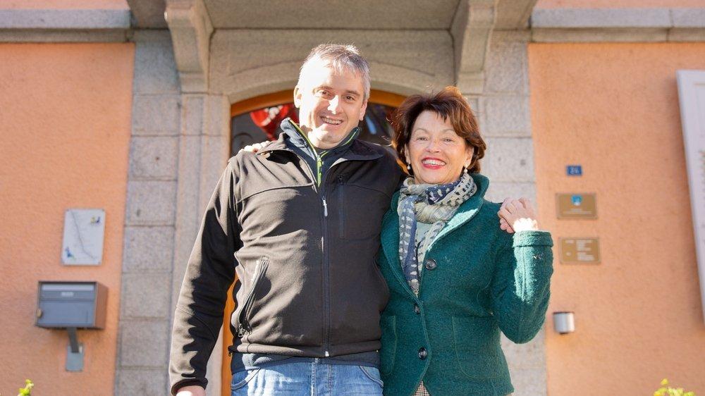 Les PRD Frédéric Pochon et sa colistière Marie-Madeleine Luy sont les deux meilleurs élus à Sembrancher, avec respectivement 262 et 212 voix.