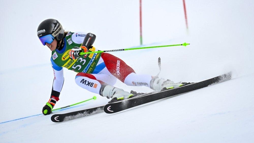 Camille Rast a retrouvé la Coupe du monde à Sölden samedi.