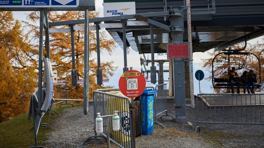 Dans la station valaisanne d'Ovronnaz, dont le domaine skiable se situe entre 1300 et 2500 mètres d'altitude, la saison d'été s'achève.