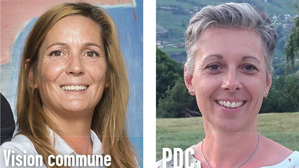 Sylvie Masserey Anselin (à gauche) et Martine Perruchoud Hofstädter sont en lice pour la présidence de Chalais.