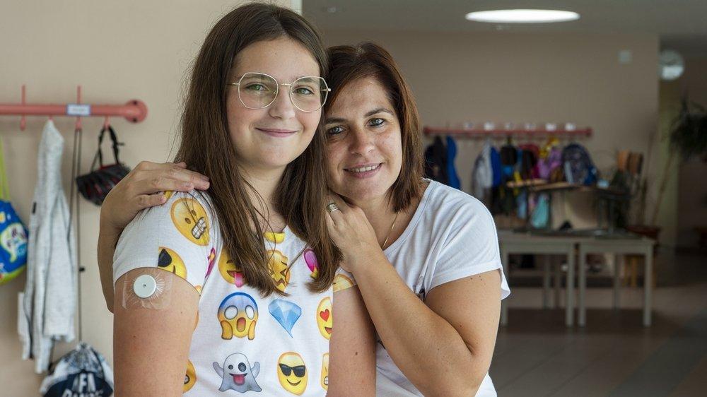 Pour Maeva Barmaz et sa maman Sandra, il a fallu réorganiser toute leur routine de vie.