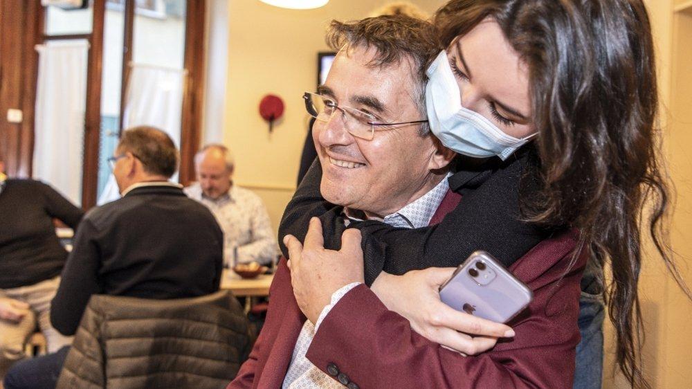 Olivier Cottagnoud a obtenu 271 voix de plus qu'en 2016. Pour le plus grand bonheur de sa fille.
