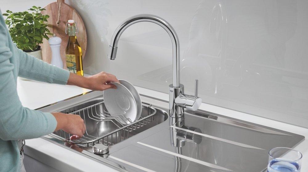 L'évier fait partie des éléments-clés de la cuisine.