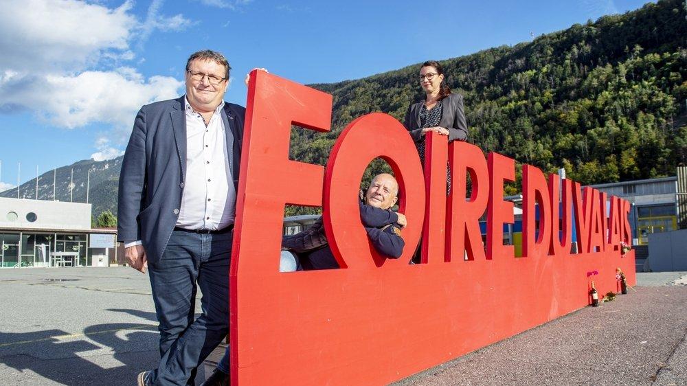 Fans inconditionnels de la Foire du Valais, Jean-Philippe Lonfat, Laurent Lattion et Christelle Piguet évoquent l'édition 2020 qui a lieu sans avoir lieu.