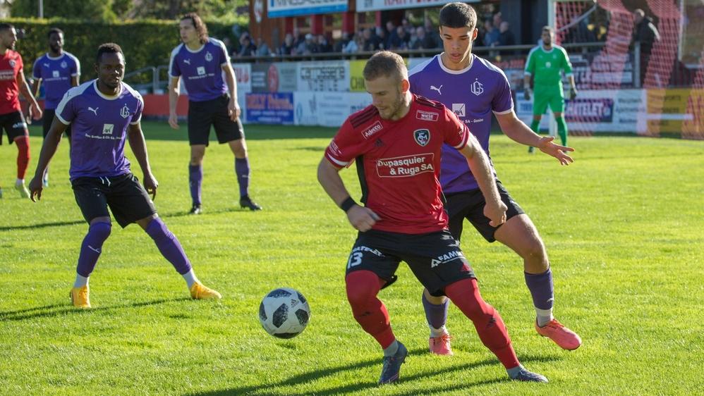 Thibaud Constantin, auteur de deux buts, a largement contribué à ce nouveau succès du FC Monthey face à UGS, cette fois.