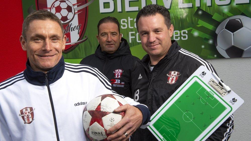 Sébastien Lugon, Eddy Fumeaux et Joël Berthouzoz.