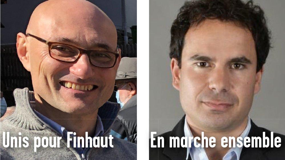 Le nouvel élu Andrea Ridolfi (à gauche) et le vice-président sortant Valentin Gay-des-Combes briguent la président de la commune de Finhaut.