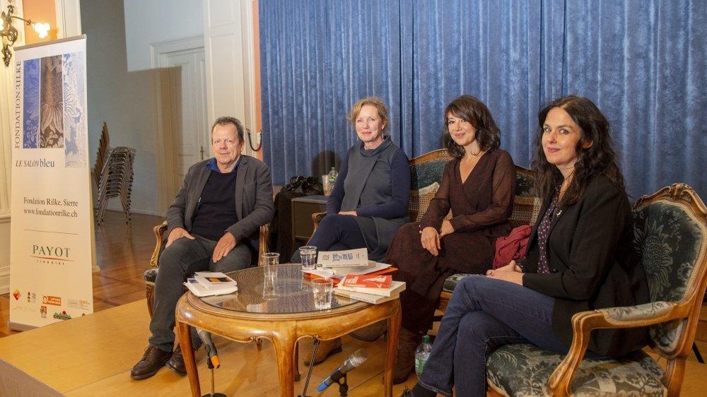 Bernard Comment, Brigitte Duvillard, Manuella Maury et Olivia Seigne ont fait revivre Rilke le temps d'une soirée à Sierre.