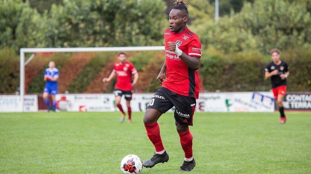 Kevin Mapwata a égalisé pour le FC Monthey contre Balerna samedi.