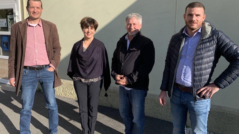 Joseph Ramuz (à droite) sera le nouveau président de Leytron et son colistier Benoît Martinet (à gauche), le nouveau vice-président.