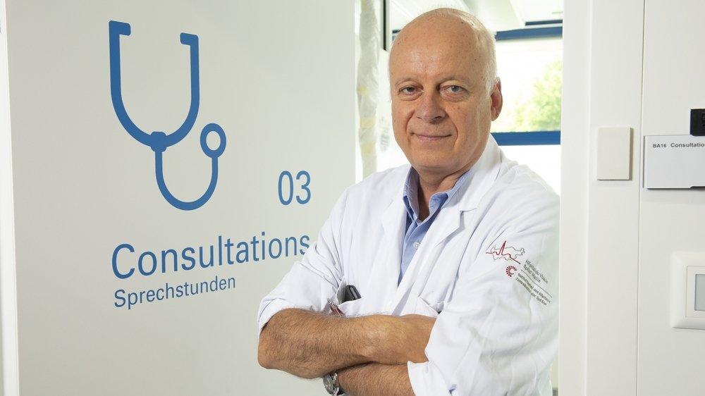 Nicolas Troillet , médecin-chef des maladies infectieuses à l'Hôpital du Valais