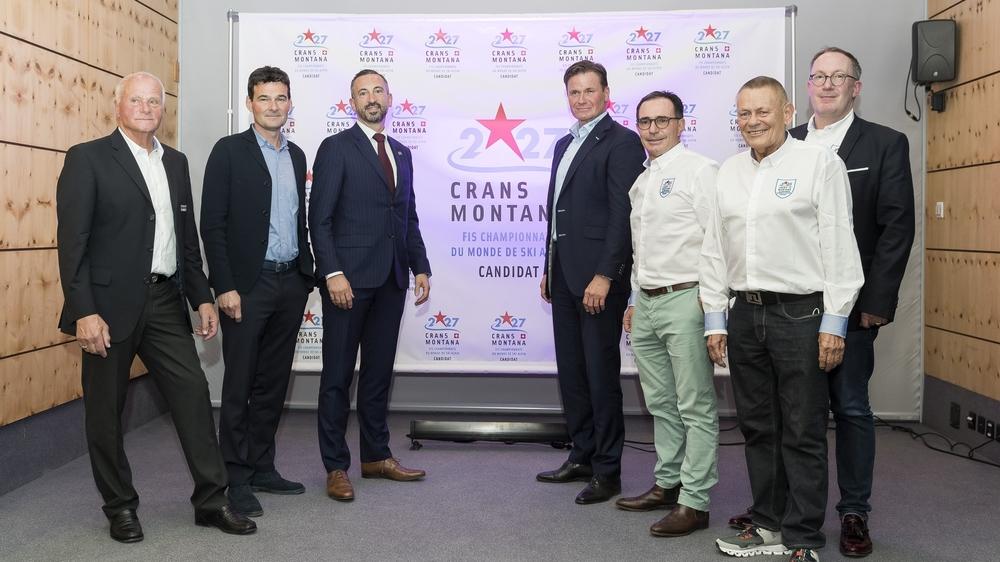 Marius Robyr, David Bagnoud, Frédéric Favre, Urs Lehmann, Philippe Magistretti, Hugo Steinegger et Nicolas Féraud posent déjà devant la candidature 2027.