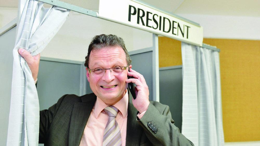 Pierre Zoppelletto, président du Parti Indépendant de Port-Valais, a fait deux sièges tout seul pour la deuxième fois.