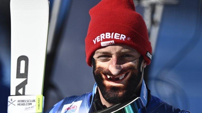 Le plus beau sourire de la Coupe du monde de ski alpin pour Justin Murisier?