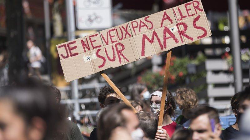 Loi sur le CO2: des grévistes du climat veulent combattre le texte