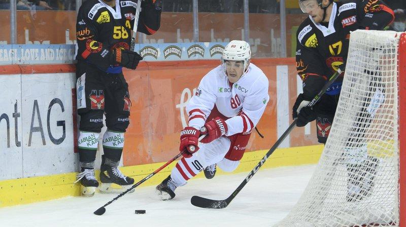 Robin Leone a inscrit le 2-1 pour le HC Lausanne.