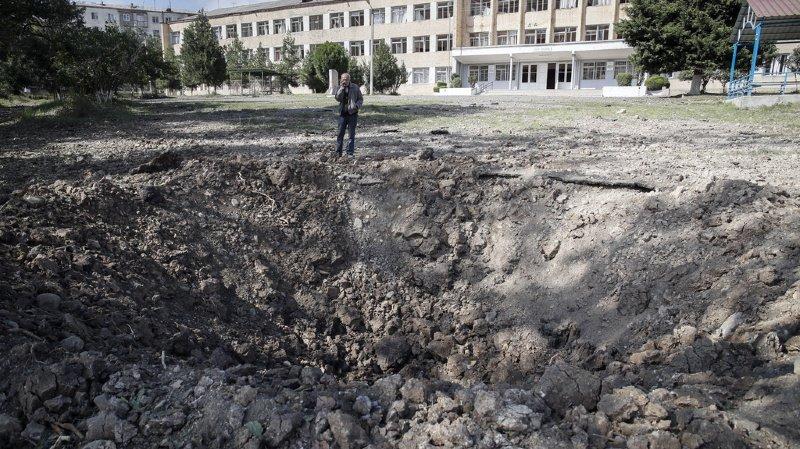 Les bombardements ont fait d'importants dégâts dans la ville de Stepanakert. (illustration)