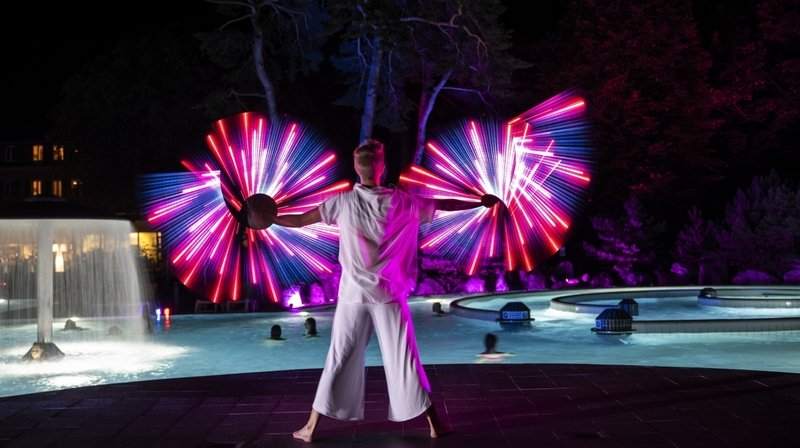 Bains de Lavey: des «Baignades illuminées» pour plonger dans une ambiance onirique