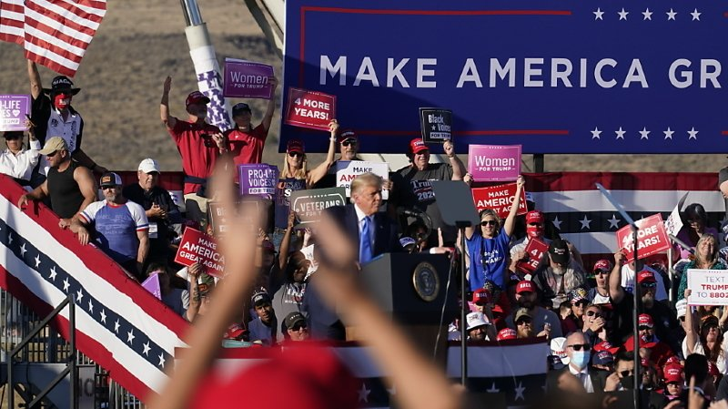 Donald Trump s'est notamment rendu dimanche à Carson City, dans le Nevada.