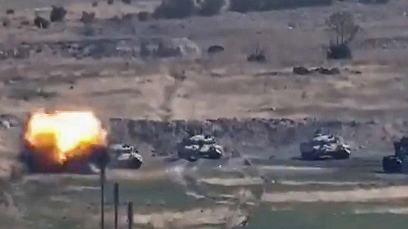 L'Arménie a diffusé des images de blindés azerbaïdjanais détruits.