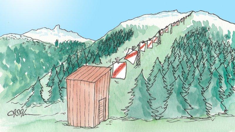 Sion-Mayens de l'Ours: trente oppositions à la liaison plaine-montagne