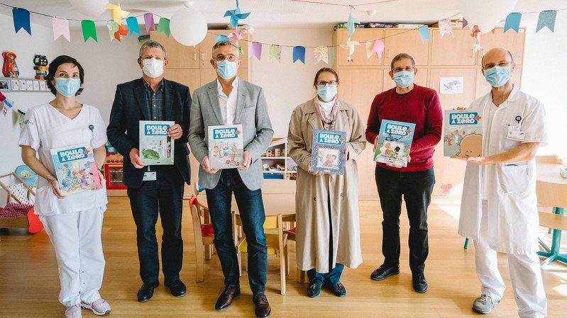 Les bandes dessinées ont été reçues au service de pédiatrie de Rennaz ce vendredi.