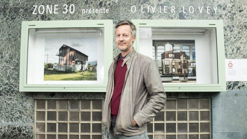 Olivier Lovey trompe l'œil public à Zone 30 à Sierre