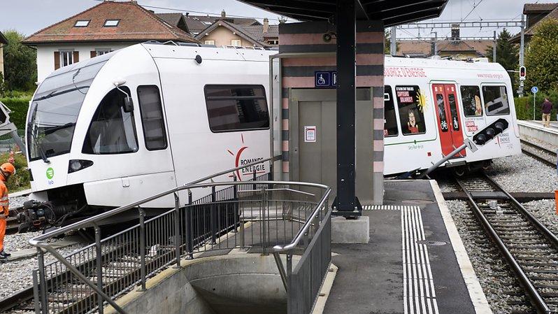La rame du LEB a déraillé en gare d'Echallens dans la nuit de dimanche à lundi.