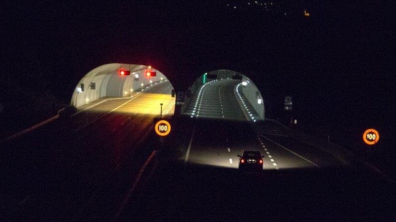 Sierre/Haut-Valais: fermetures nocturnes de tunnels attendues sur l'A9