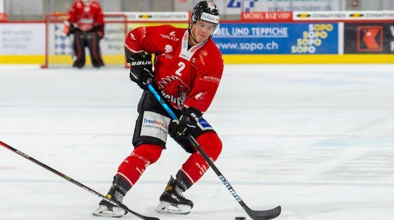 Valentin Pilet, joueur du HC Viège.