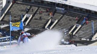 Dans une bulle, les skieurs de la Coupe du monde ont plongé dans le vide