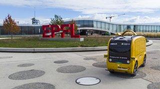 Automaticité: un véhicule autonome teste la livraison de repas à l'EPFL