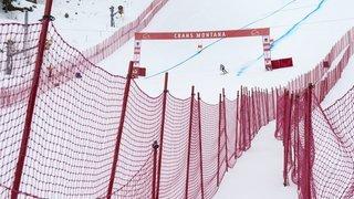 Ski alpin: l'absence de public ne met pas en péril les courses de Crans-Montana