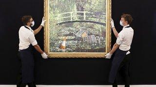 Peinture: un tableau de Bansky parodiant Monet a été vendu plus de 7 millions de livres aux enchères