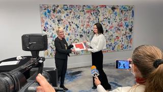 Suisse-Bélarus: Isabelle Moret a rencontré l'opposante bélarusse Svetlana Tikhanovskaïa