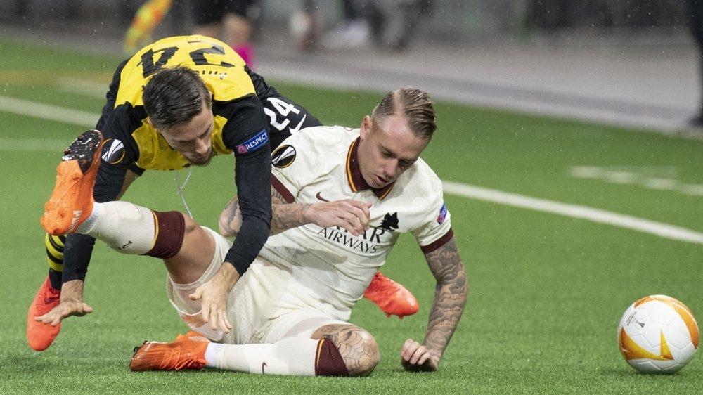 Pour sa première en phase de groupe d'une compétition européenne, Quentin Maceiras s'est frotté aux joueurs de l'AS Roma.