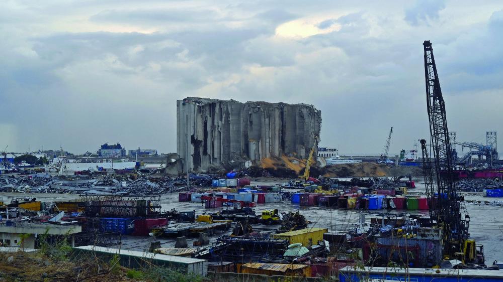 Le site de l'explosion, le 11 novembre dernier.