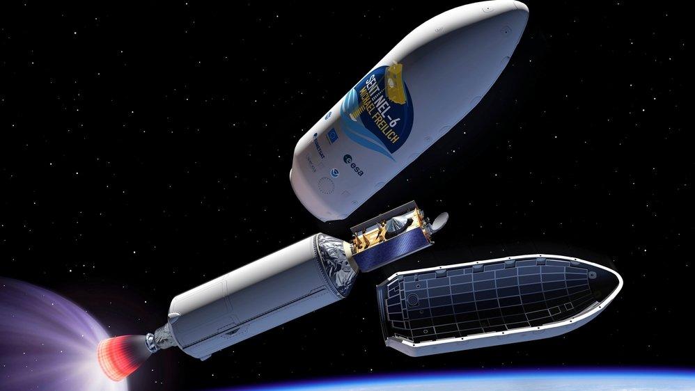 Le satellite Sentinel-6, qui doit être lancé samedi, de la base militaire Vandenberg, en Californie, est doté d'un altimètre radar pour mesurer le niveau de la mer.