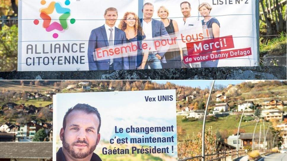 A Vex, le duel à la présidence oppose le sortant Danny Defago au nouvel élu Gaétan Bruchez.