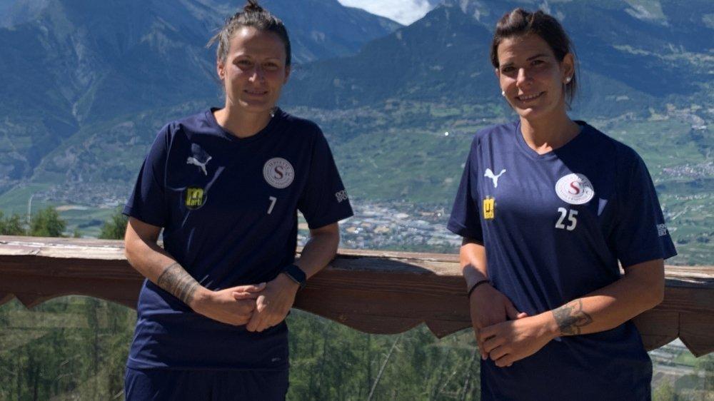 Maeva Sarrasin et Valérie Gillioz, les Valaisannes du Servette FC Chênois.