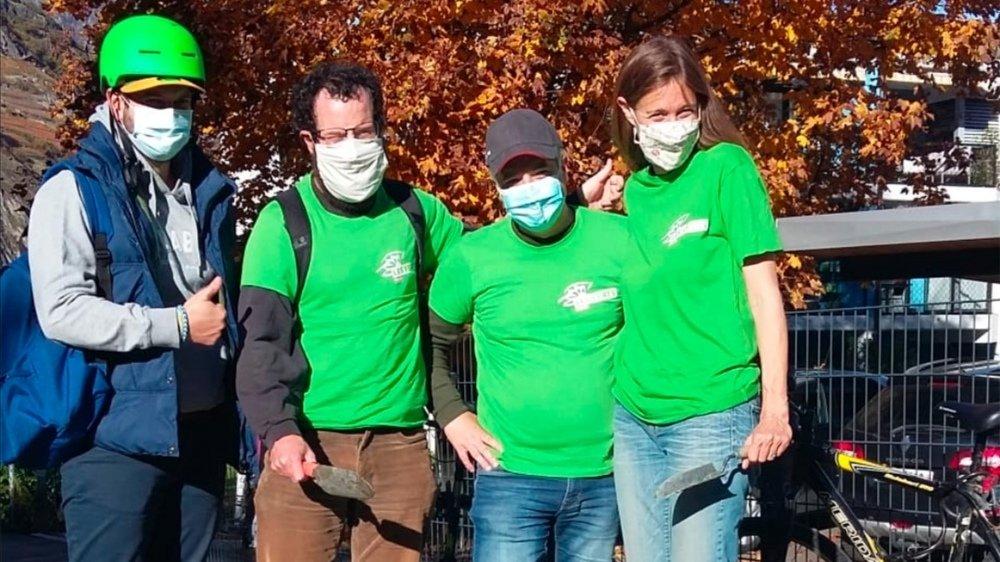 Les Verts ont planté des arbres samedi à Martigny.