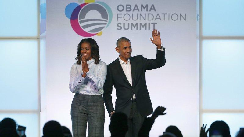 Que ce soit avec la vente de leurs livres ou la tenue de conférences, le couple Obama génère d'énormes revenus (archives).