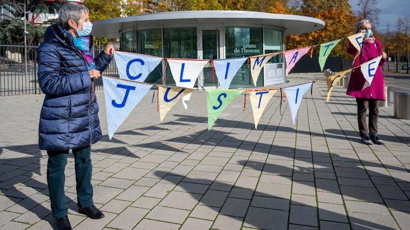 A Strasbourg, les Aînées pour le climat ont annoncé leur recours à la CEDH
