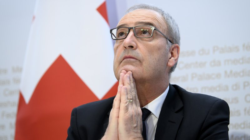 Guy Parmelin a tenu un discours pour l'anniversaire de l'Organisation mondiale du commerce (OMC) célébré jeudi à Genève (archive).