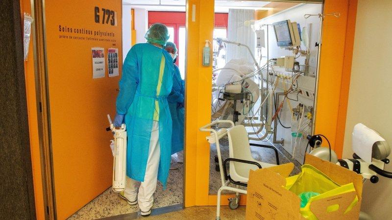 Coronavirus: plongée au cœur des soins continus à l'hôpital de Sion