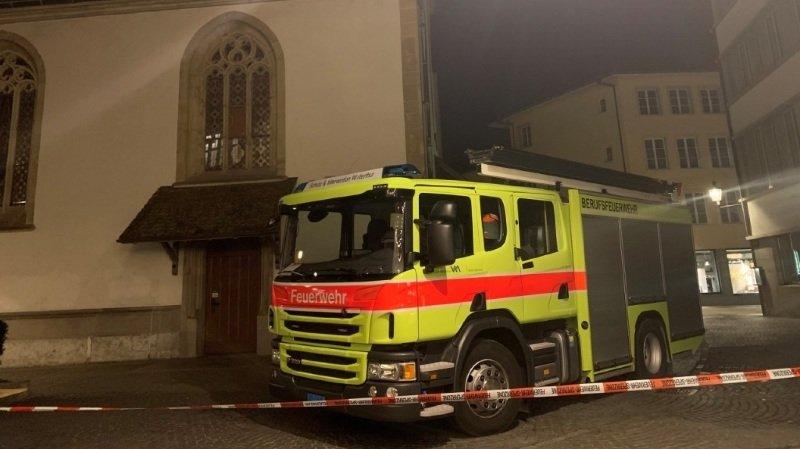 Winterthour: un incendie ravage l'intérieur de l'église municipale
