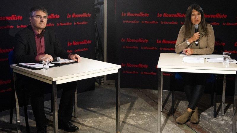 Présidence de Vétroz: notre duel filmé entre Olivier Cottagnoud et Lydia Moix-Kluser