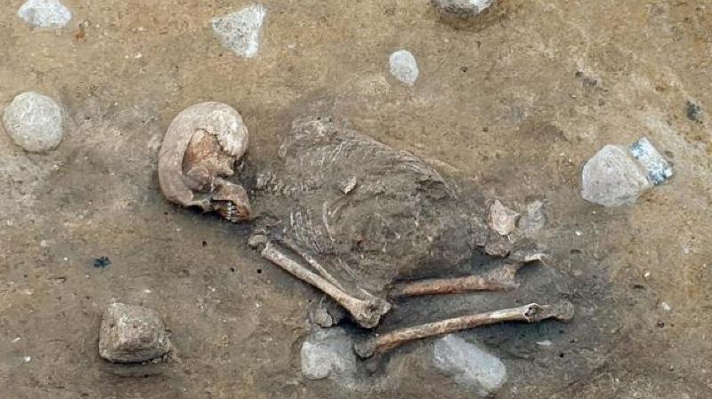 Les ossements ont été découverts par hasard lors de travaux.