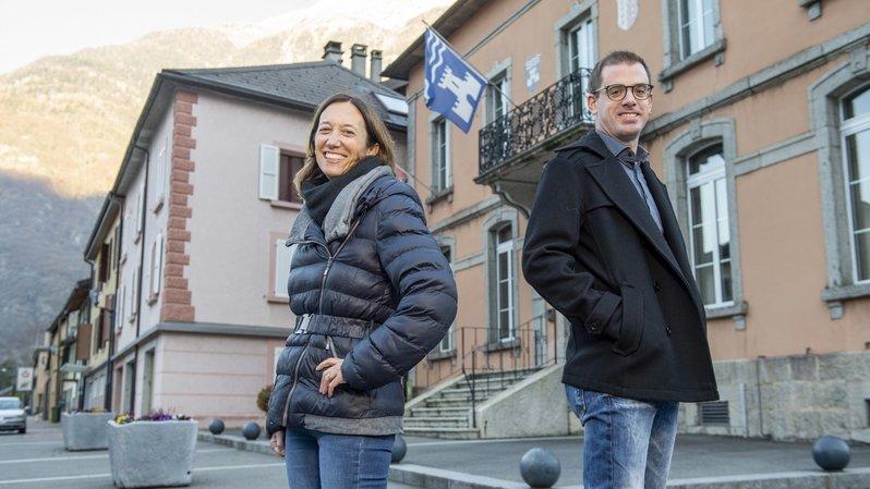 Match à la présidence d'Evionnaz: Valérie Santacroce-Tacchini face à Damien Rappaz
