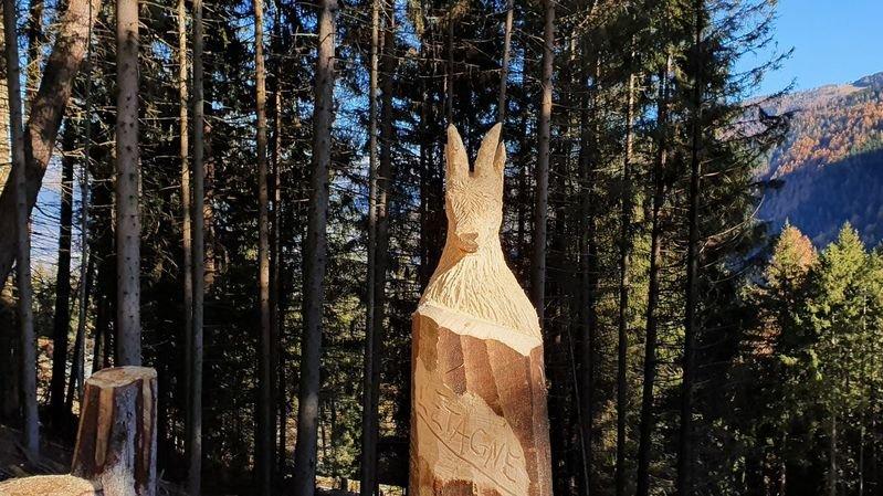 Nendaz: de nouvelles sculptures en bois à admirer